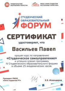Сертификат СОФ2017 Васильев П. 1 смена